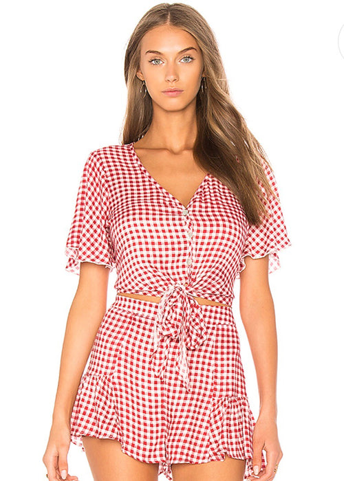 Cherry Pie Gingham Matching Set