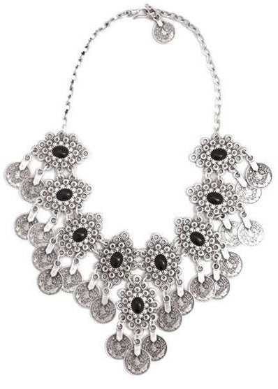 Natalie B Jewelry - Eyes of Troy Necklace - Black and Silver