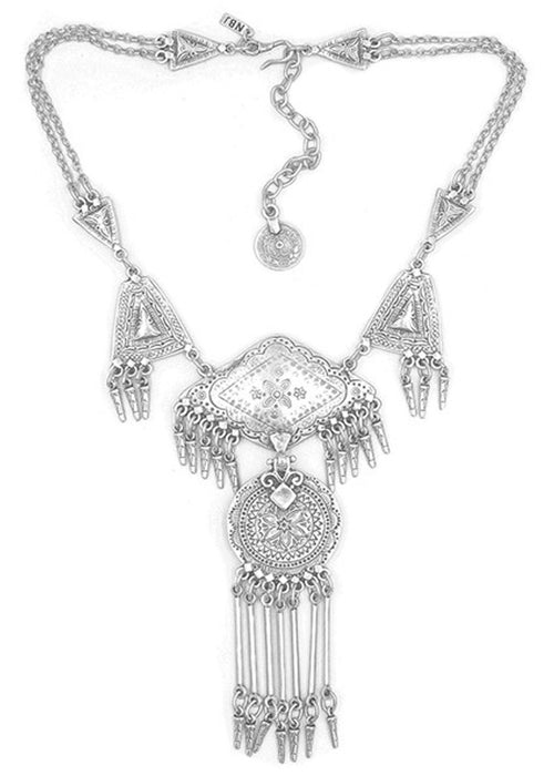 Natalie B Jewelry Rambler Necklace Silver Festival