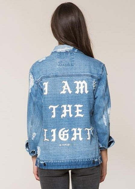 I am the Light Denim Jacket