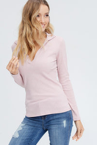 Jolie - Long Sleeve Ribbed Top - Sassy Girl Boutique NJ