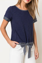 Hem & Thread - TIE BUTTON DETAIL BLOUSE - Sassy Girl Boutique NJ