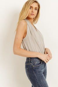 Gilli - Sleeveless Draped Bodysuit - Sassy Girl Boutique NJ