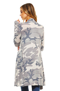 Blumin Apparel - Camouflage Open Cardigan - Sassy Girl Boutique NJ