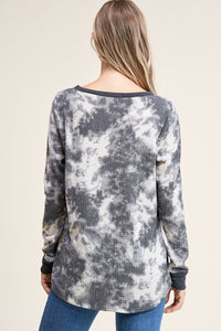 Staccato - Tie Dye Waffle Knit Top - Sassy Girl Boutique NJ