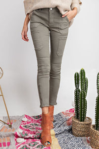 Easel - Basquiat Cargo Skinny Pants - Sassy Girl Boutique NJ