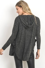 Gilli - Charcoal Cardigan Hoodie - Sassy Girl Boutique NJ