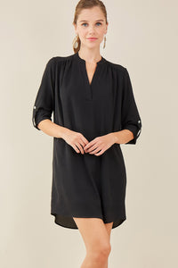 Entro - V-Neck Shirt Dress - Sassy Girl Boutique NJ