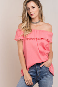 Kori - SWEET SOUTHERN OFF SHOULDER TOP - Sassy Girl Boutique NJ