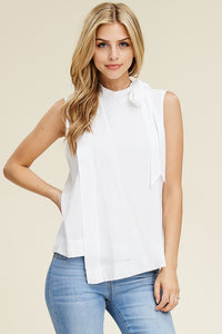 Solution - Tie Neck Wrap Style Top - Sassy Girl Boutique NJ