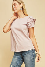 Entro - Crew-Neck Top with Pearls - Sassy Girl Boutique NJ