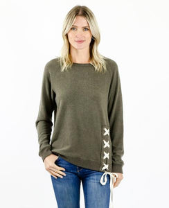 Six Fifty - Side Lace Up Sweater - Sassy Girl Boutique NJ