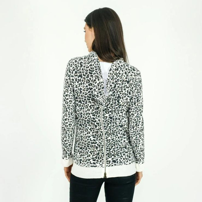 Six Fifty - Leopard Zipper Back Hoodie - Sassy Girl Boutique NJ