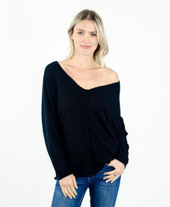 Six Fifty - Center Seam Dolman Sleeve Top - Sassy Girl Boutique NJ