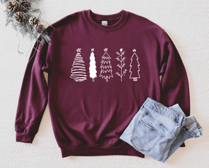 Christmas Tree Sweatshirt - Christmas Sweatshirt Unisex Adult - Christmas Pajama Sweatshirt