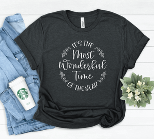 It's The Most Wonderful Time Of The Year Unisex Adult Christmas T-shirt - Christmas Shirts - Holiday Shirts