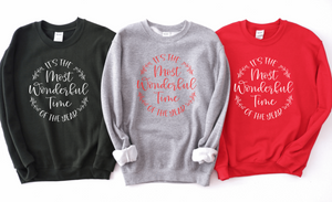 It's The Most Wonderful Time Of The Year Unisex Adult Crew Neck Sweatshirt - Christmas Sweatshirt - Christmas Pajama Sweatshirt