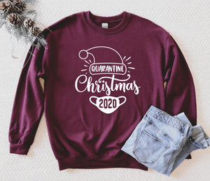 Quarantine Christmas 2020 Unisex Adult Crew Neck Sweatshirt - Christmas 2020 Sweatshirt - Christmas Pajama Sweatshirt