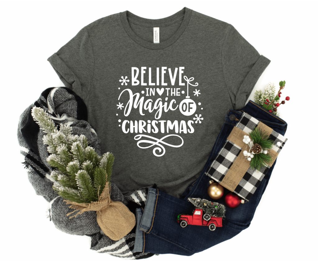 Believe In The Magic Of Christmas Unisex T-shirt - Christmas T-shirt - Magical Christmas Shirt