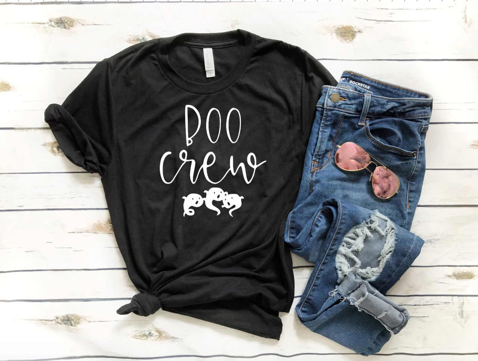 Boo Crew Halloween T-Shirt - Matching Halloween T-shirts - Funny Halloween Shirt - Teacher Halloween Shirt - Custom Halloween Shirt