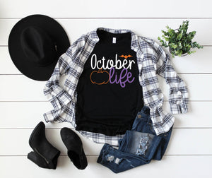 Unisex Halloween T-Shirt - October Life - Halloween Lover - Halloween Shirts - Women's - Men's - Unisex