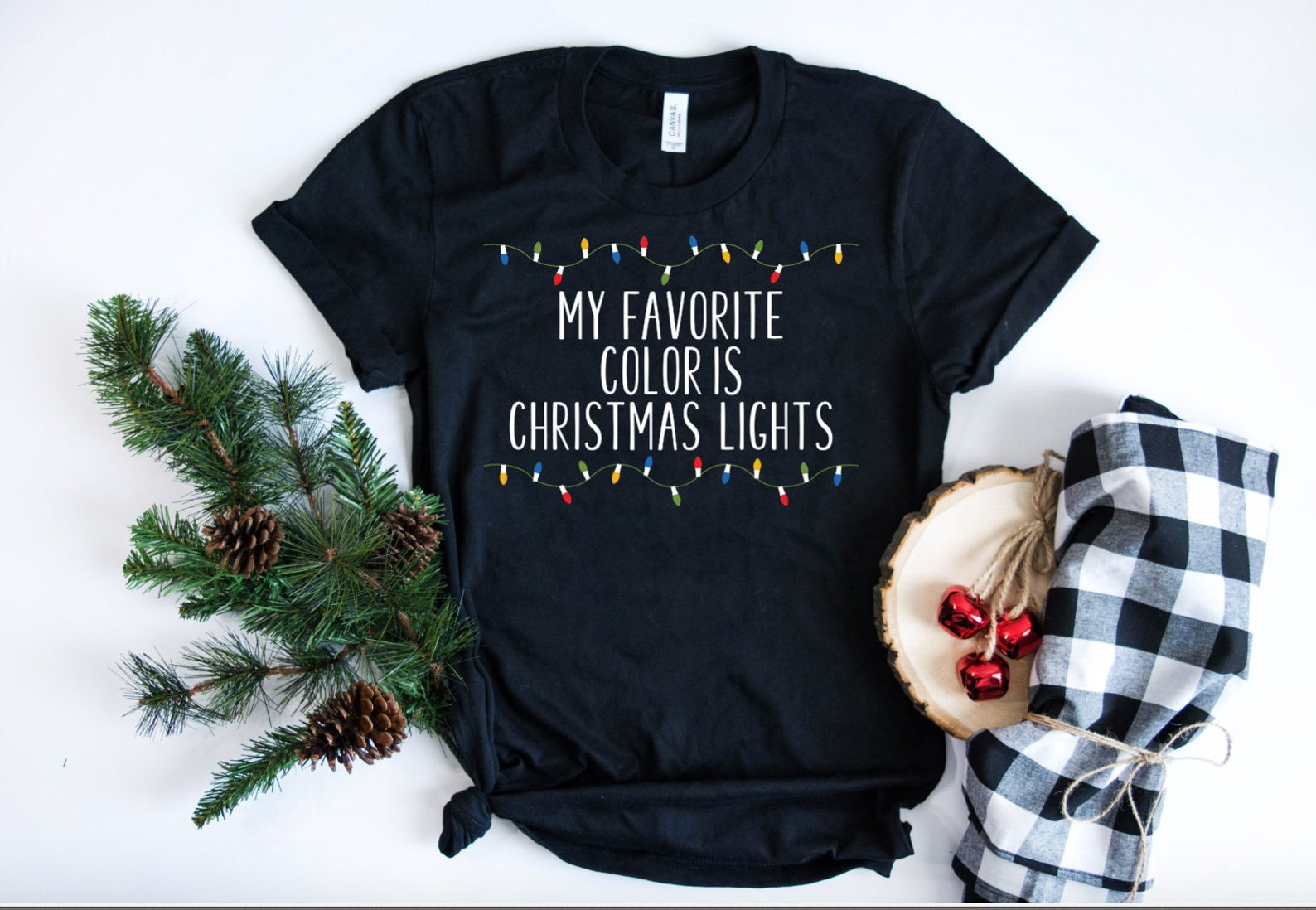 My Favorite Color is Christmas Lights Unisex T-shirt