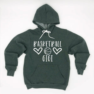 Basketball Gigi Hoodie Pullover Sweatshirt - Gigi Hoodie - Basketball Family Hoodies - Basketball Gigi Sweatshirt - Gift For Gigi