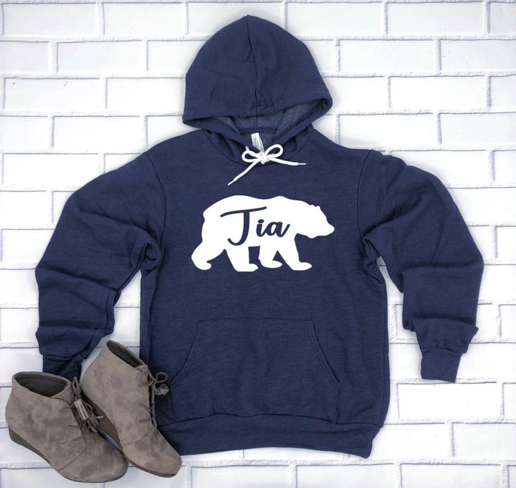 Tia Bear Hoodie Pullover Sweatshirt - Tia Hoodie - Bear Family Hoodies - Tia Bear Sweatshirt - Gift For Tia