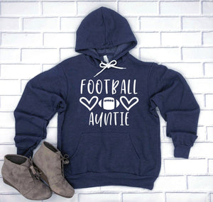 Football Auntie Hoodie Pullover Sweatshirt - Aunt Hoodie - Football Family Hoodies - Football Auntie Sweatshirt - Gift For Auntie