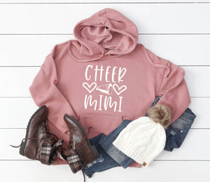 Cheer Mimi Hoodie Pullover Sweatshirt - Mimi Hoodie - Cheer Family Hoodies - Cheer Mimi Sweatshirt - Gift For Mimi