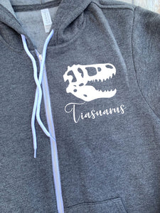 Tia Saurus Zip Up Hoodie - Hooded Jacket - Gift For Tia - Tia T-shirt - Dinosaur Family -  Tiasaurus Shirt - Gift For Aunt
