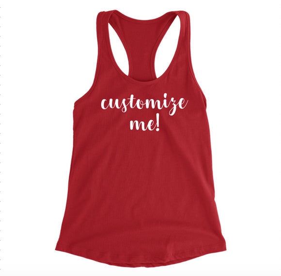 Custom Tank Top - Custom Women's Racerback Tanks