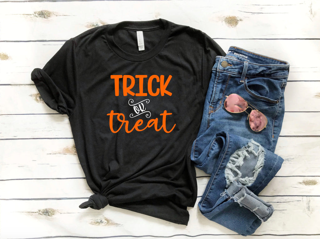 Halloween Shirt - Trick or Treat Shirt - Funny Halloween Shirt - Halloween Tee Shirt  - Women's Halloween Shirt - Halloween Party Shirt