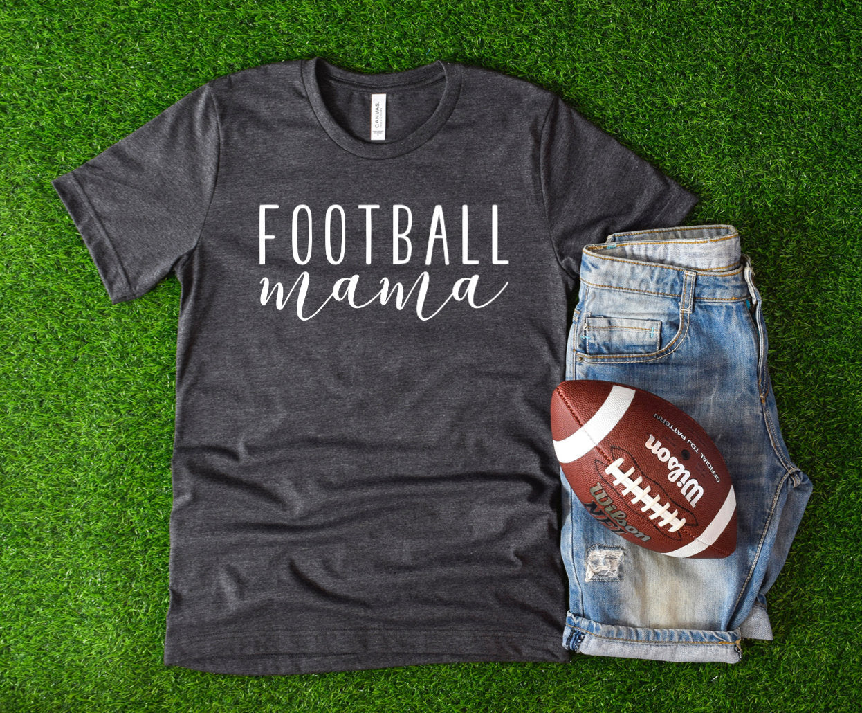 Football Mama T-Shirt - Football Shirts - Football Family Shirts - Sports Mom Shirt - Gift for Mom