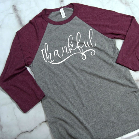Thankful 3/4 Sleeve T-shirt