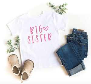 Big Sister T-shirt - Toddler - Youth - Gift for Big Sister