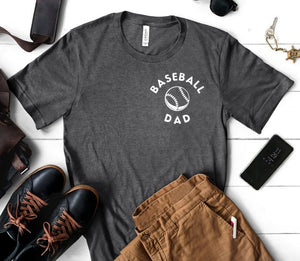 Baseball Dad Heather Navy T-shirt - Dad Shirt - Baseball Family Shirts - Sports Dad - Father's Dad Gift Idea