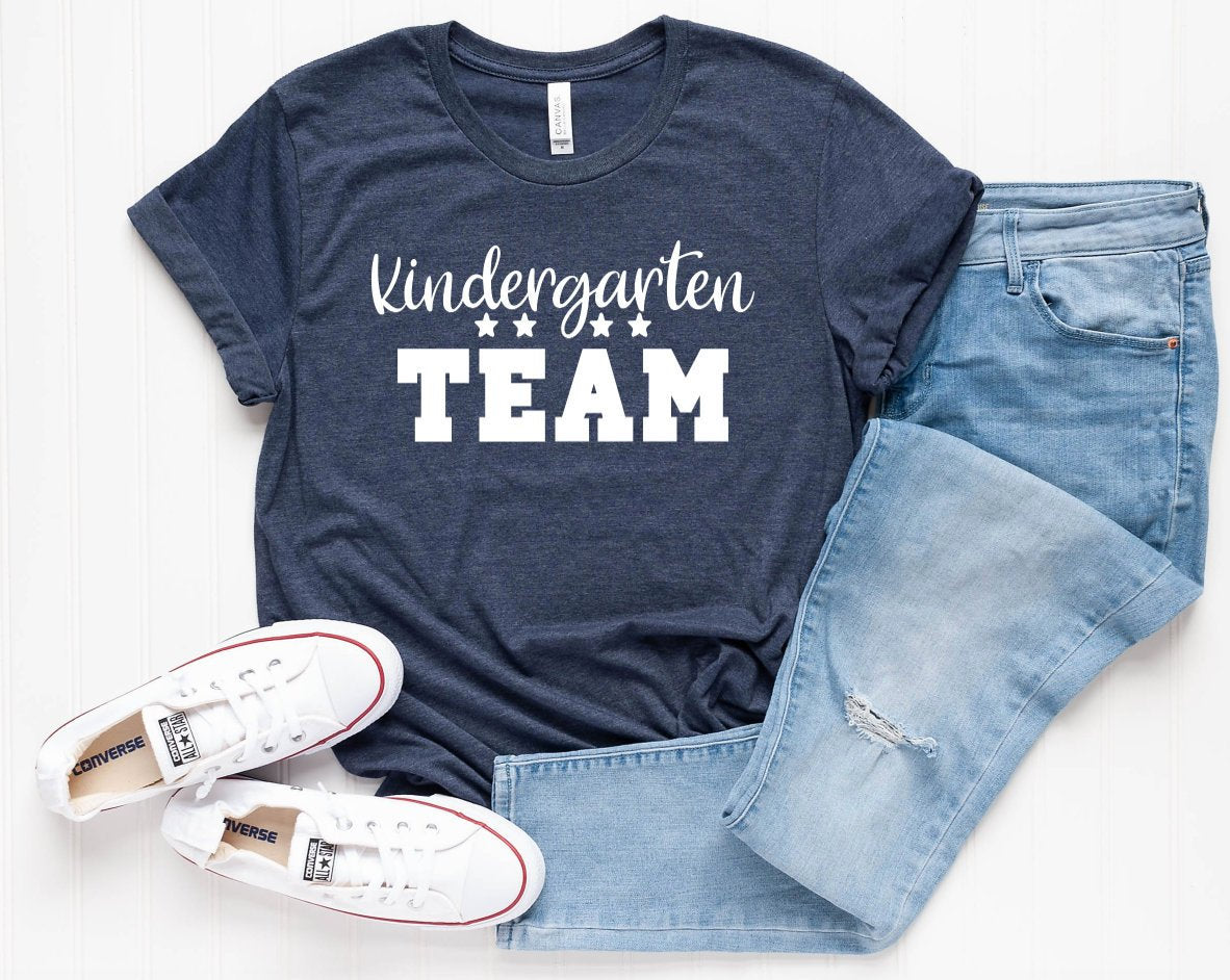 Kindergarten Team Grade Level Teacher Shirt - Cute Teacher Shirts - Grade Level Shirts - Matching Teacher Shirts - Kindergarten Shirts