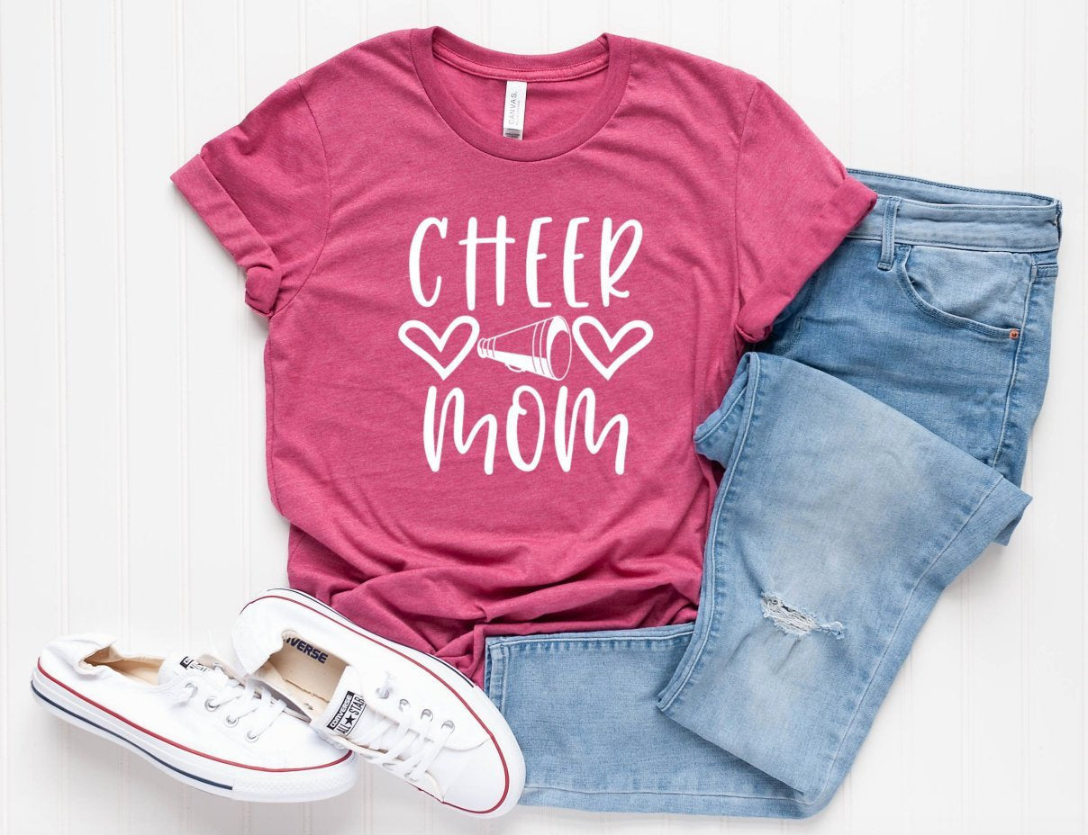 Cheer Mom Unisex T-shirt - Cheer Family Shirts - Mom T-shirt - Gift For Mom - Cheer Mama Tee