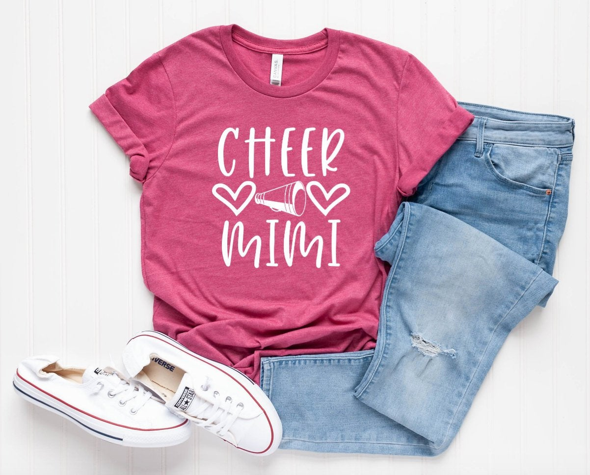 Cheer Mimi Unisex T-shirt - Cheer Family Shirts - Mimi T-shirt - Gift For Mimi - Cheer Mimi Tee
