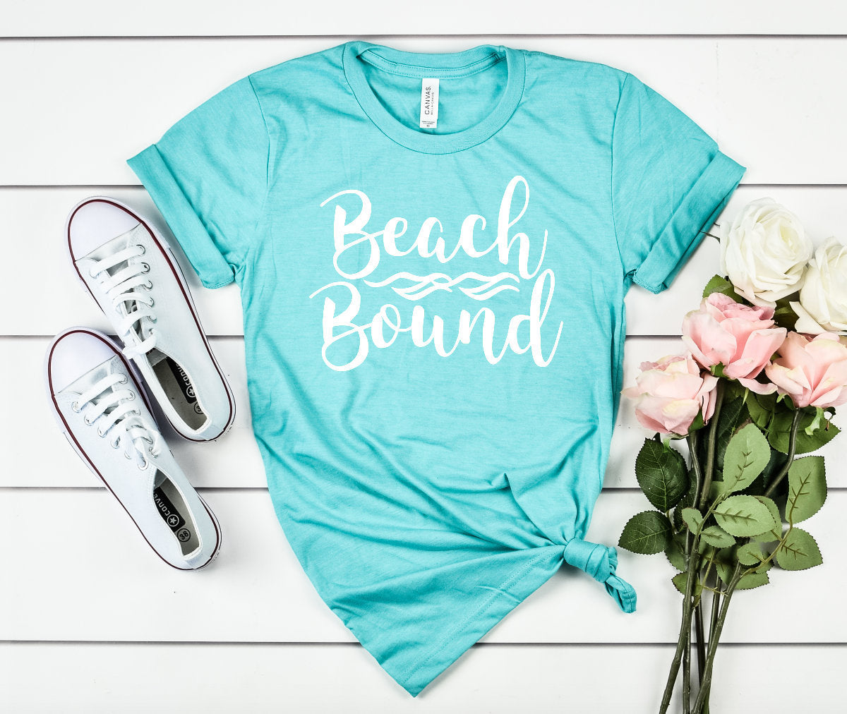 Beach Bound Heather Unisex T-shirt - Beach Shirts - Beach Vacation Shirt - Beach Trip Tees - Vacay Shirts - Cute Beach Tees