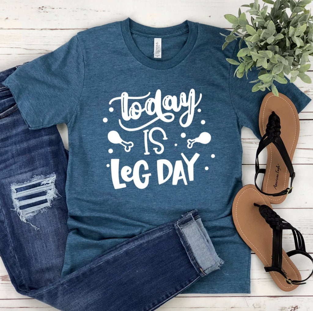 Today Is Leg Day Unisex T-shirt - Turkey T-shirt - Thanksgiving Shirt - Funny Turkey Day Shirt - Leg Day