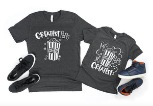 Greatest Pops Matching Shirt Set - Grandpa Grandson Matching T-Shirts - Pops Shirts - Grandson Shirts - Father's Day Gifts