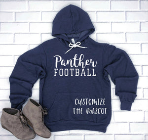 Customized Football Hoodie Pullover Sweatshirt - Football Mom Hoodie - Family Football Hoodies - Mascot Hoodie - Personalized Mascot
