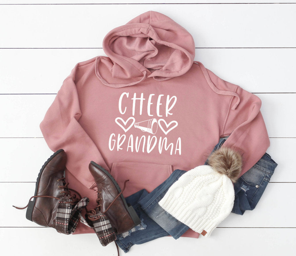 Cheer Grandma Hoodie Pullover Sweatshirt - Grandma Hoodie - Cheer Family Hoodies - Cheer Grandma Sweatshirt - Gift For Grandma