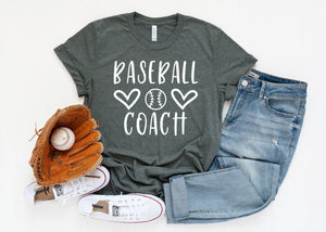 Baseball Coach T-Shirt - Baseball Coach Shirt - Custom Baseball Shirts - Baseball Family Shirts - Coach T-shirts - Coach Gift
