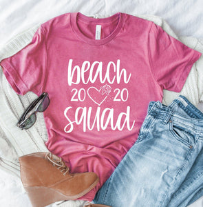 Beach Squad 2020 Heather Unisex T-shirt - Beach Shirts - Beach Vacation Shirt - Girls Beach Trip Tees - Vacay Shirts - Cute Beach Tees