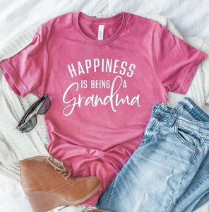 Happiness Is Being A Grandma T-shirt - Grandma Shirts - Grandma Gifts - Grandma Stuff - Grandma Christmas Gift - Cute Grandma Shirts