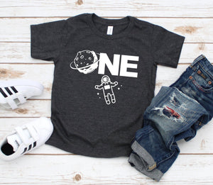 One Space Shirt - Space Birthday T-shirt - Astronaut Party Shirt - First Birthday Tee - Space Party Shirt - One Year Birthday Party Shirt