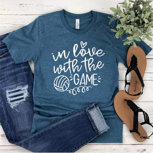 Volleyball T-Shirt - In Love With The Game - Volleyball Mom Shirt - Volleyball Family Shirts - Gift For Volleyball Mom -Gameday T-shirt